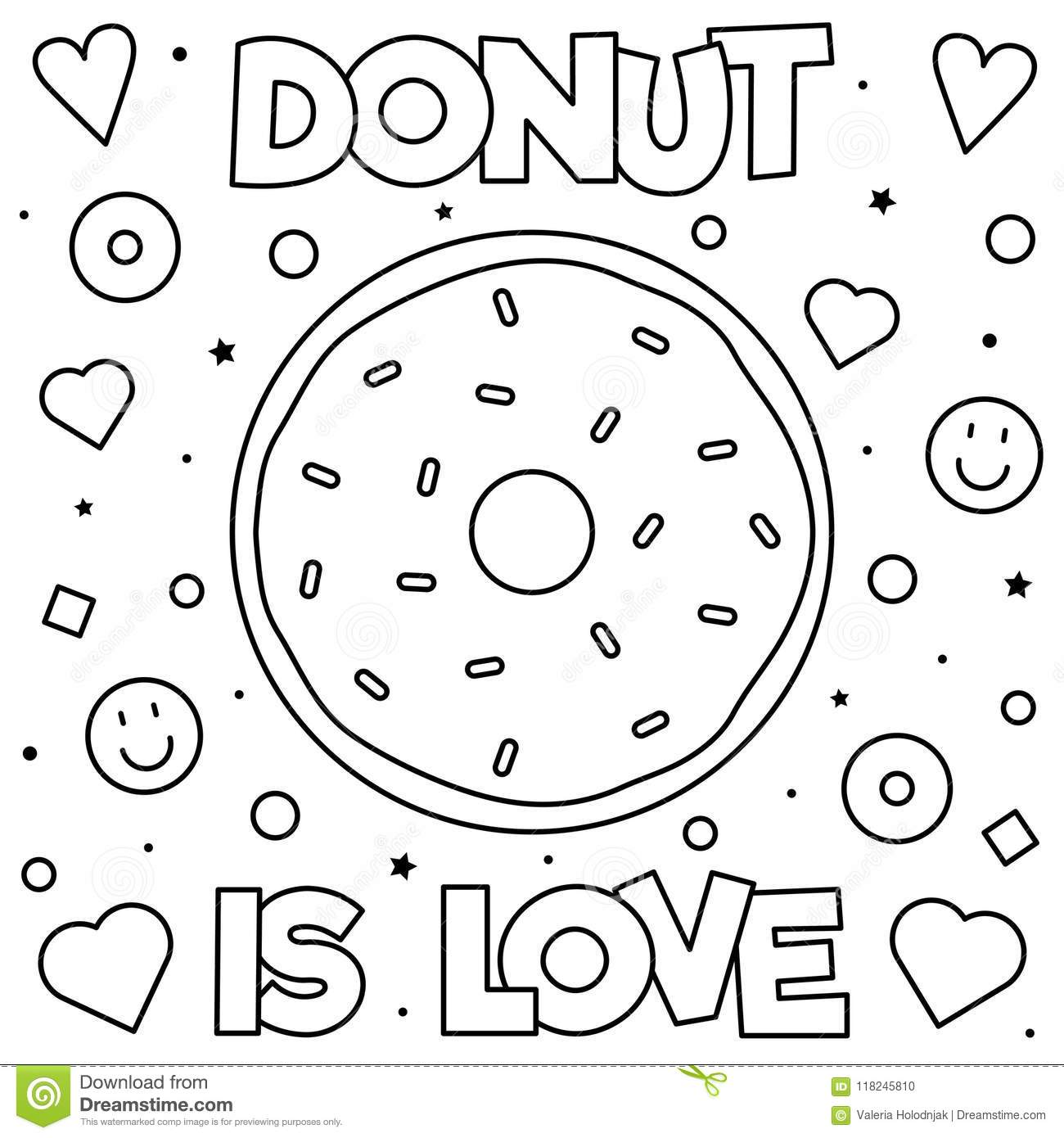 Coloring Page Vector Illustration Stock Vector Illustration Of