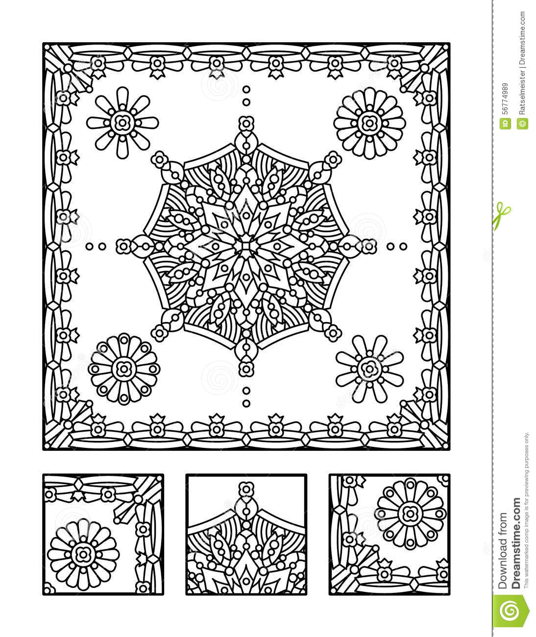 Stock Illustration Coloring Page Visual Puzzle Adults Framed Mandala Children Ok Too Directions Find Fragment Does Not Belong Image56774989 on visual business plan