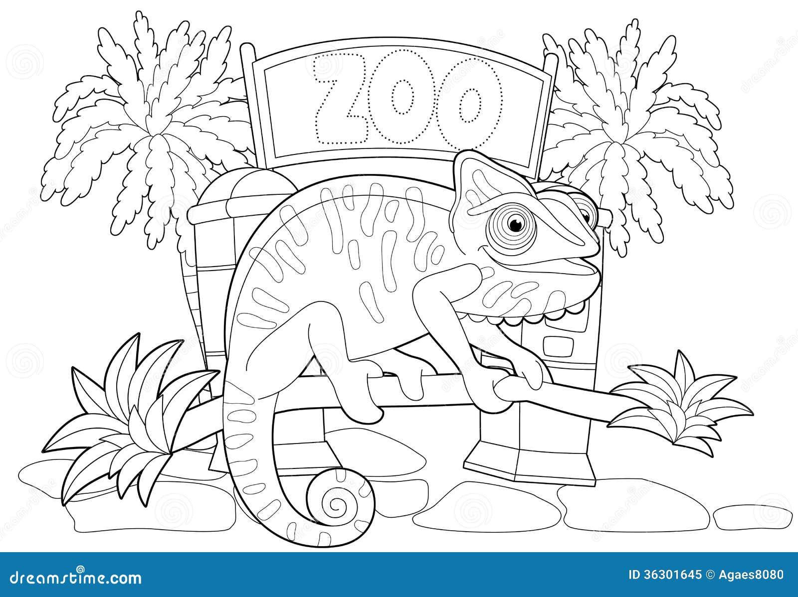 Desenho De Letra Z De Zoológico Para Colorir: Illustration For The Children