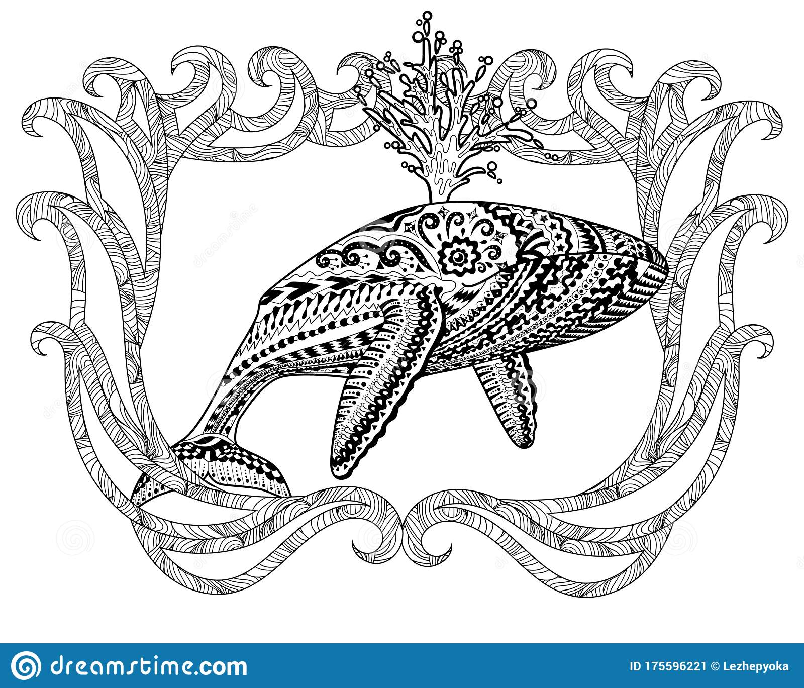 Blue Whale Coloring Page (With images) | Whale coloring pages | 1369x1600