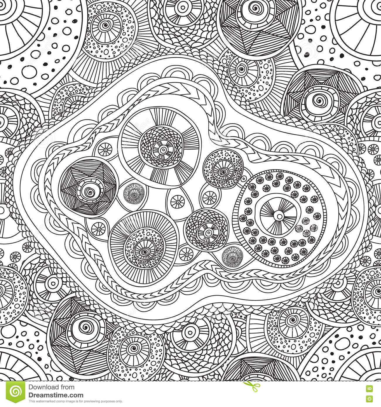 Download Coloring Pages For Adults BookSeamless Black And White Abstract Pattern With Circle Comp Add To Lightbox FREE DOWNLOAD