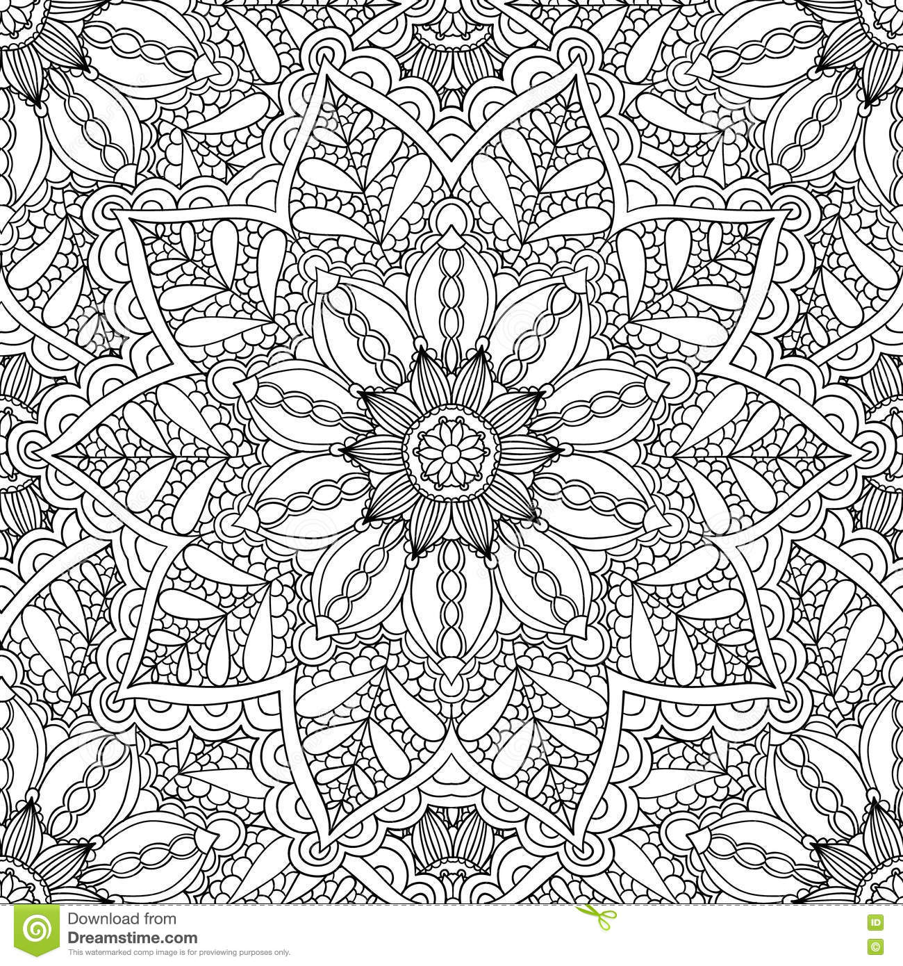 coloring pages for adultsdecorative hand drawn doodle nature ornamental curl vector sketchy seamless pattern - Nature Coloring Pages For Adults