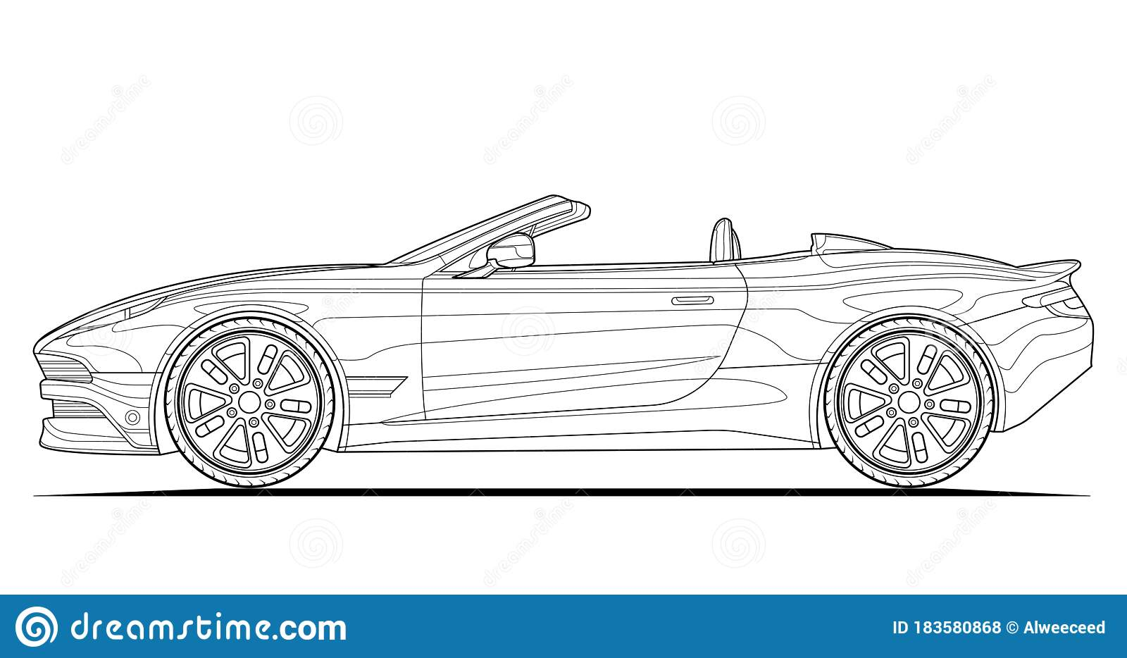 Classic Convertible Car Coloring Page   Free Printable Coloring ...   934x1600