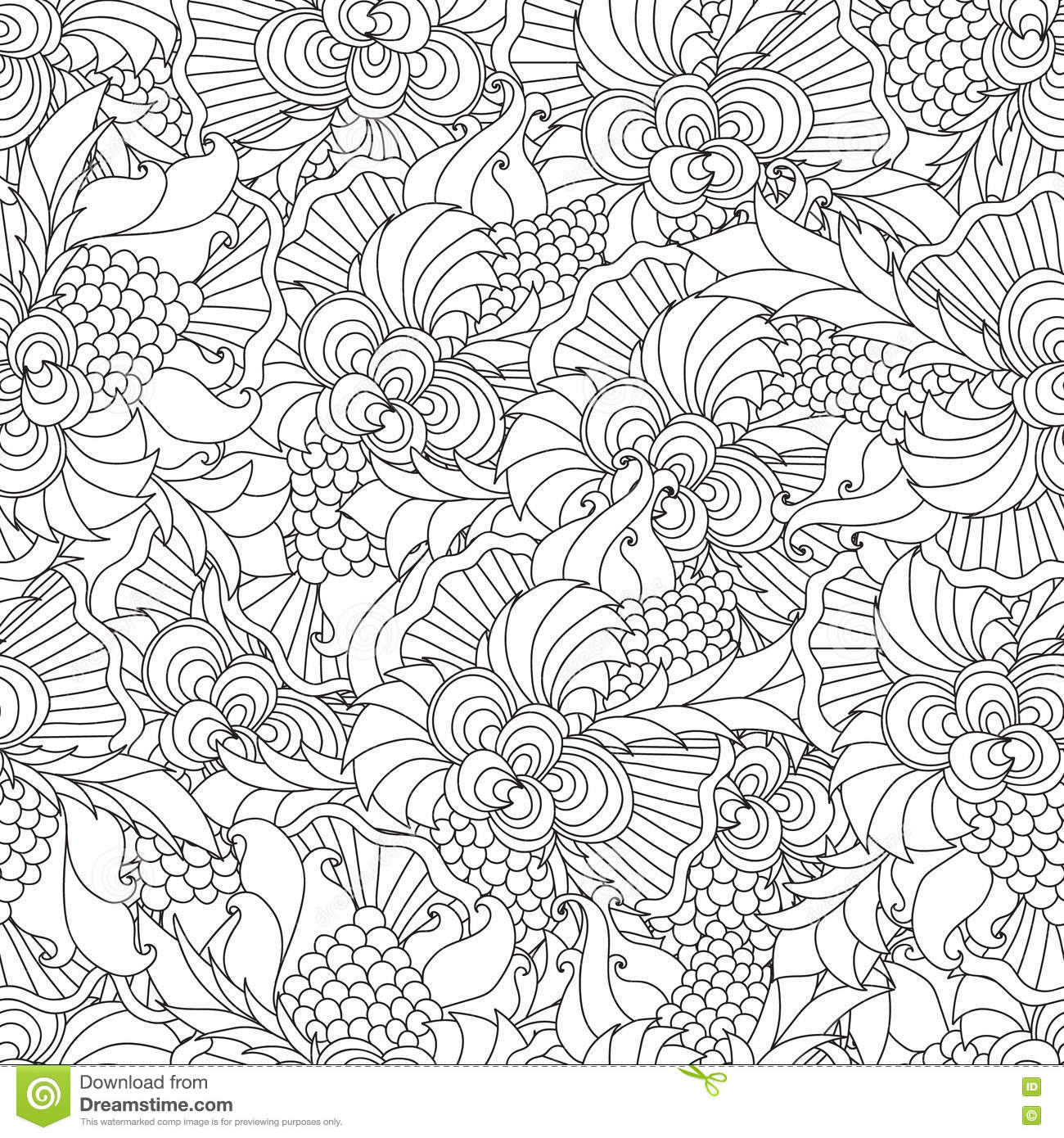 Coloring pages for adults. stock vector. Illustration of indian ...