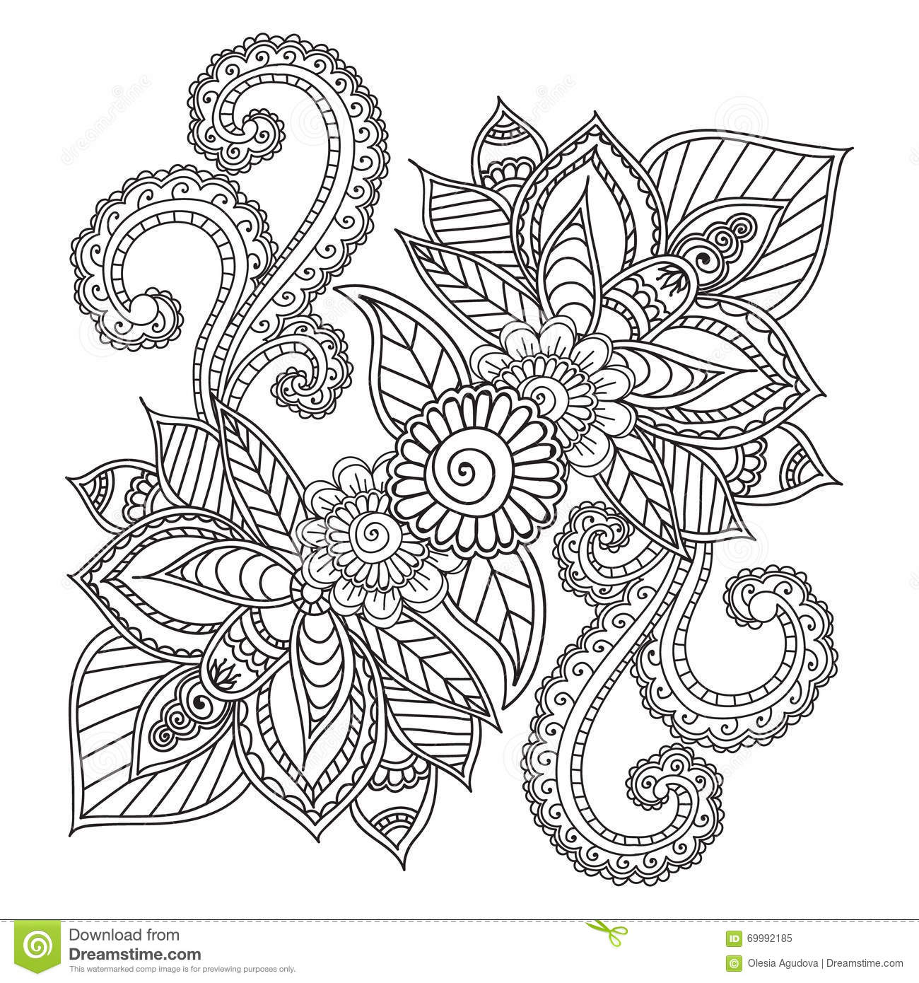 coloring pages henna