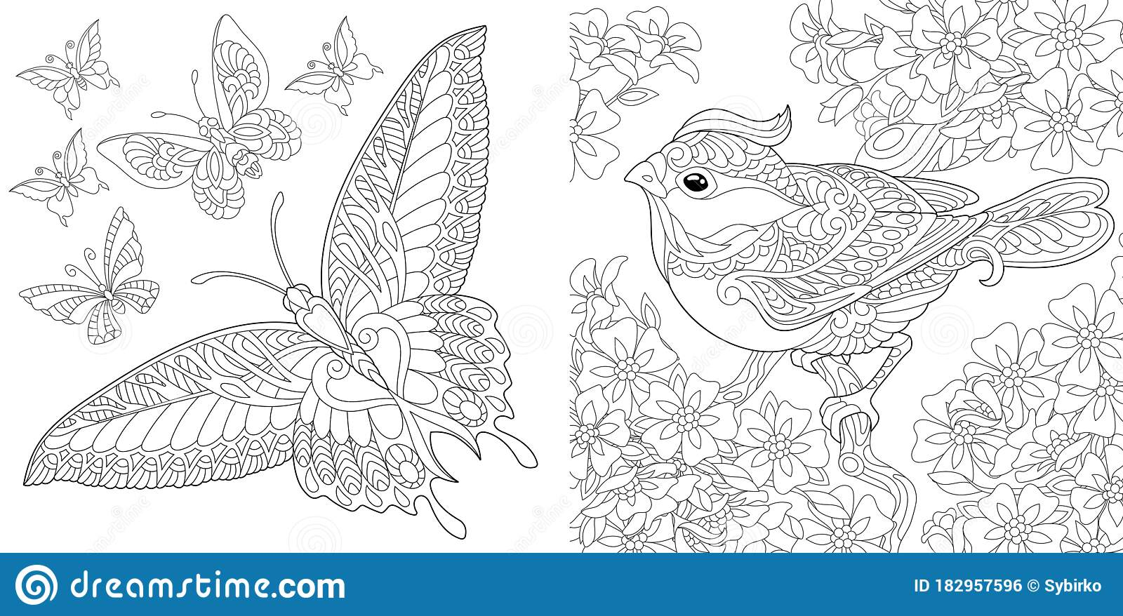 Birds And Flowers Coloring Pages | 878x1600