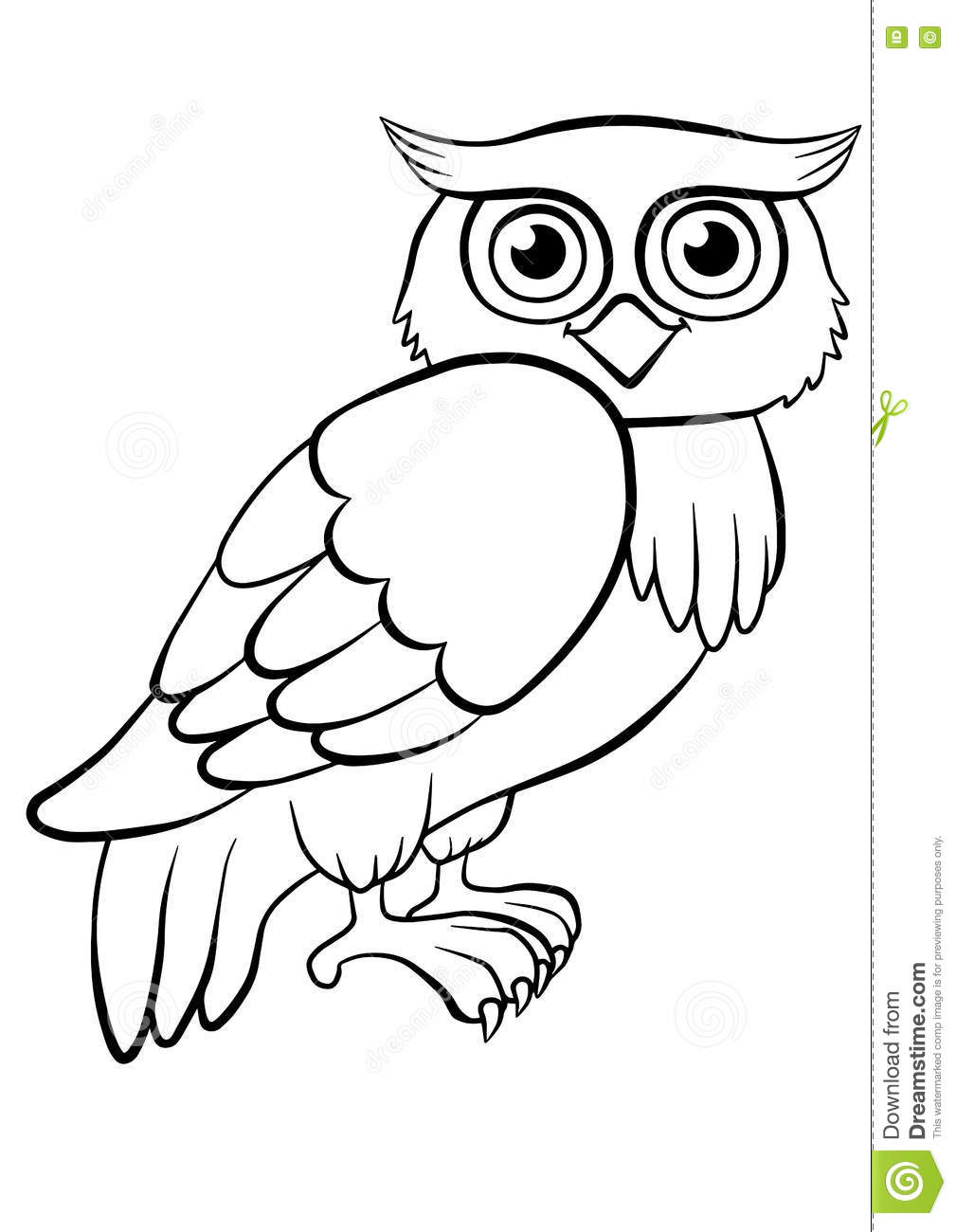 Coloring Pages. Birds. Cute Owl. Stock Vector - Illustration of baby ...