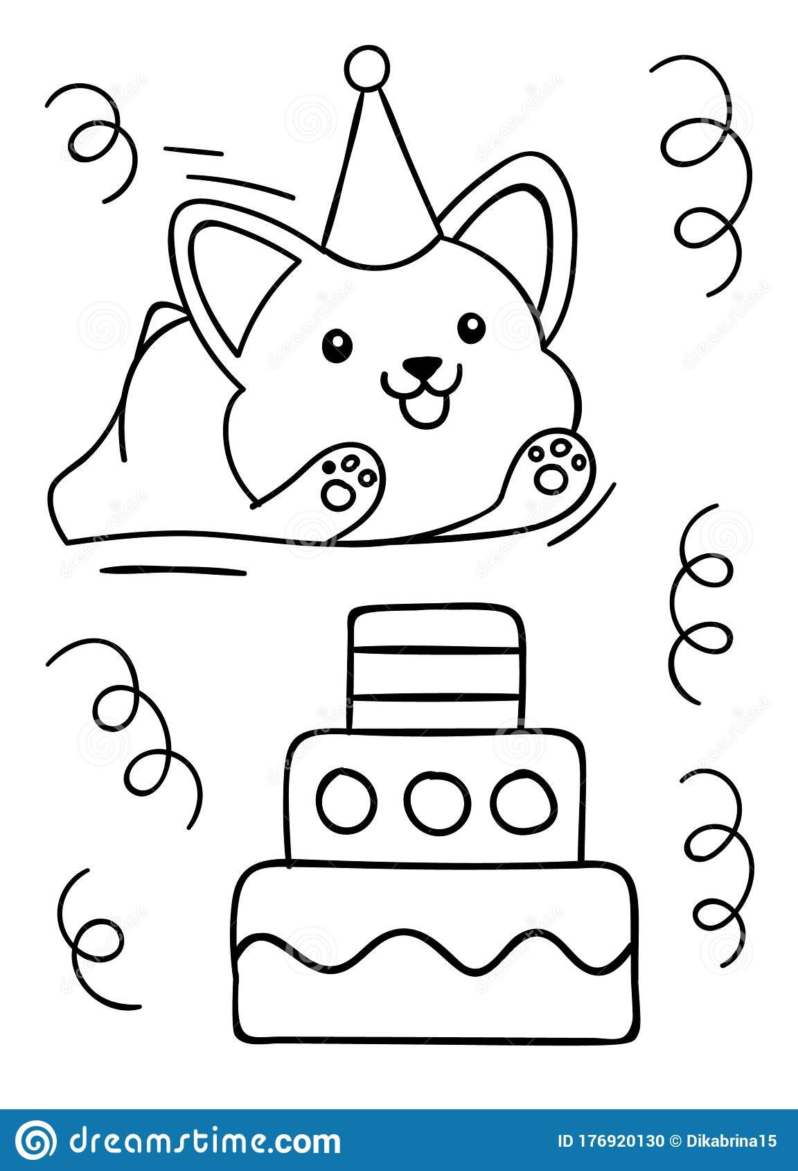 Coloring Pages, Black And White, Happy Birthday, Cute ...