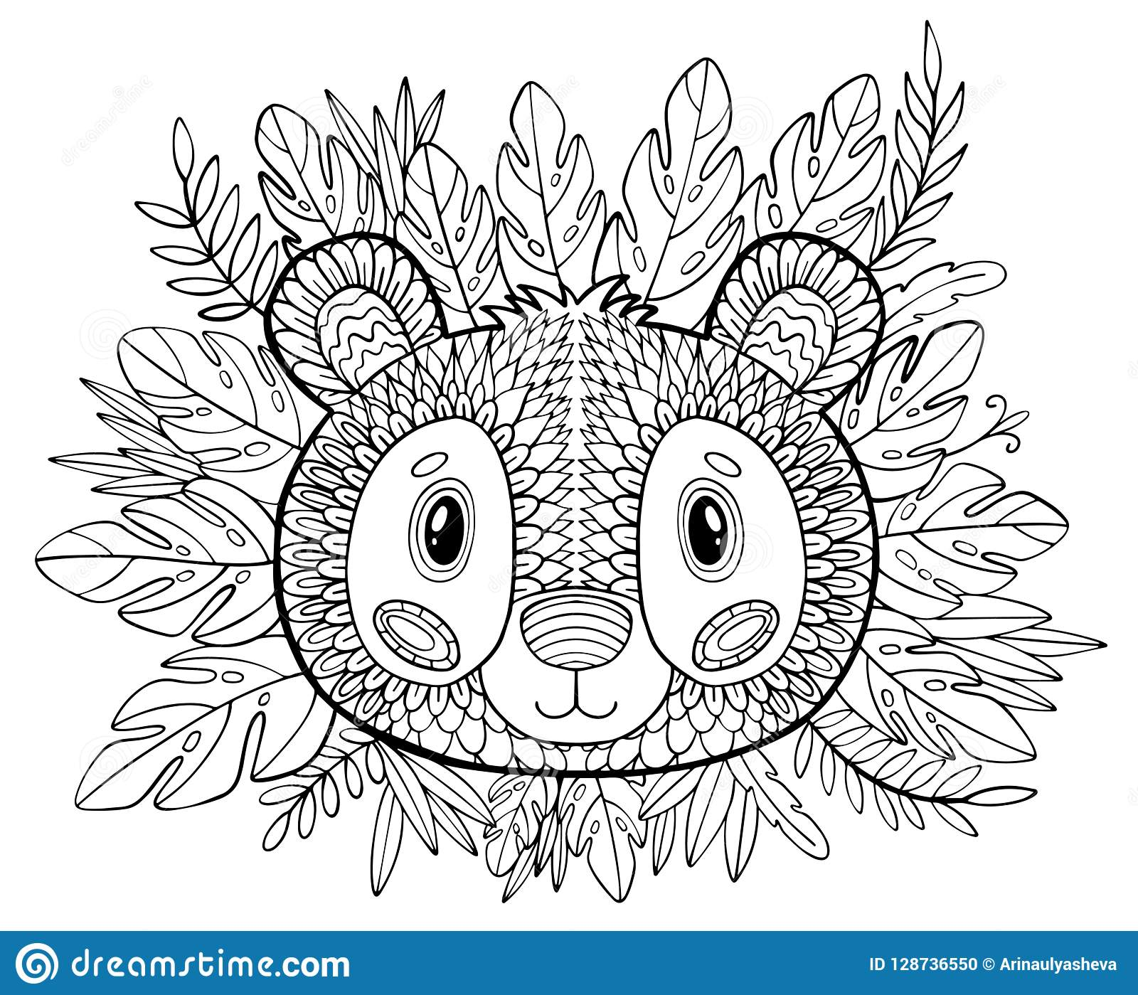Coloring Pages. Coloring Book For Adults. Beautiful Template ...