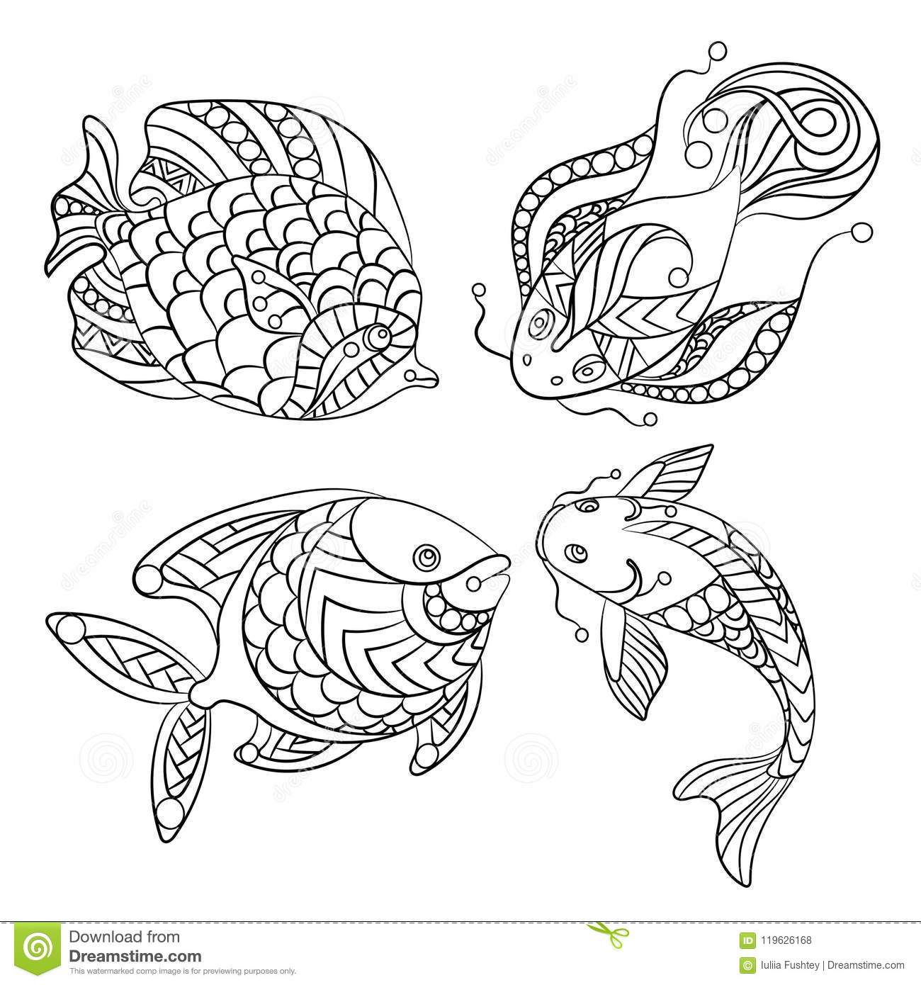 ocean fish coloring pages Coloring4free - Coloring4Free.com | 1390x1300