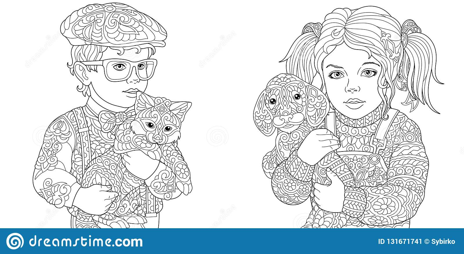 De-stress With Dogs: Downloadable 10 Page Coloring Book for Adults ... | 877x1600