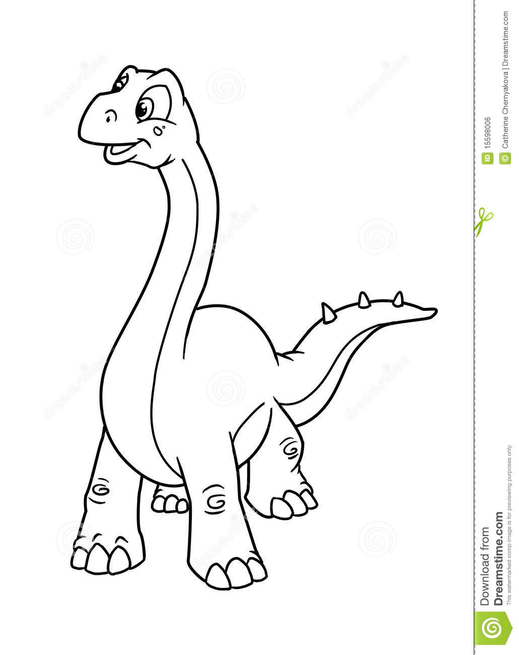 Coloring pages dinosaur stock illustration. Illustration of period ...