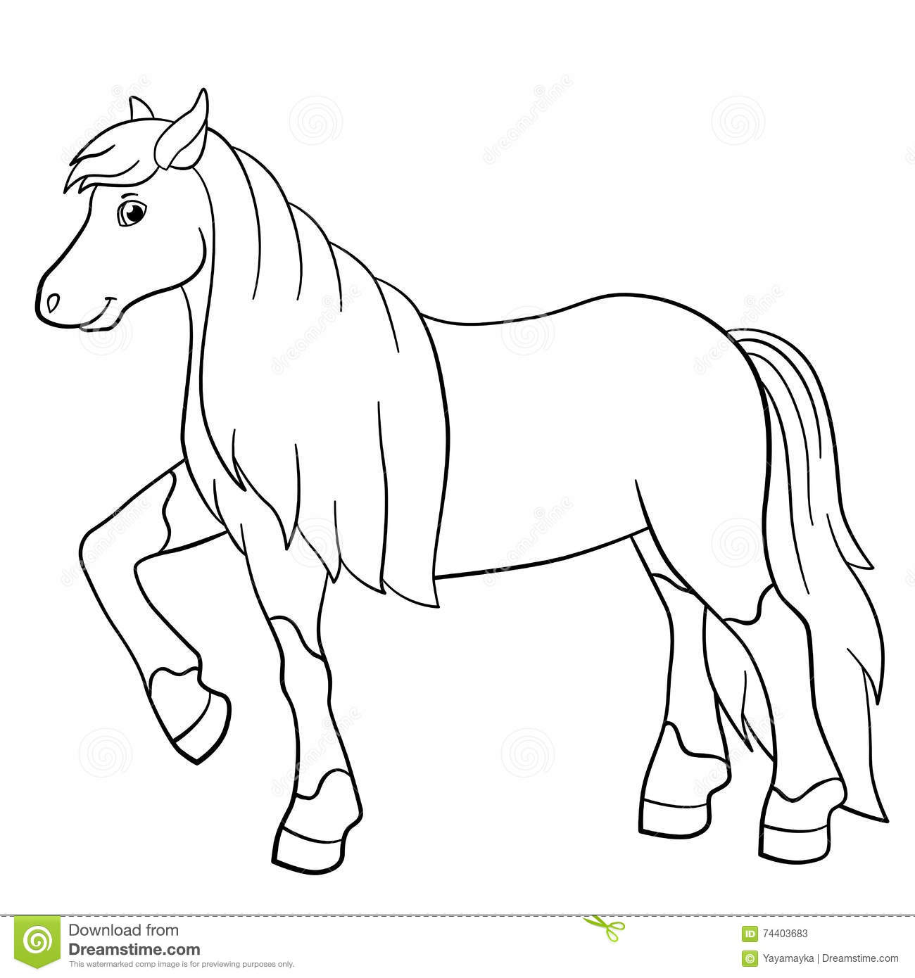 adorable coloring pages Coloring Pages. Farm Animals. Cute Horse. Stock Vector  adorable coloring pages