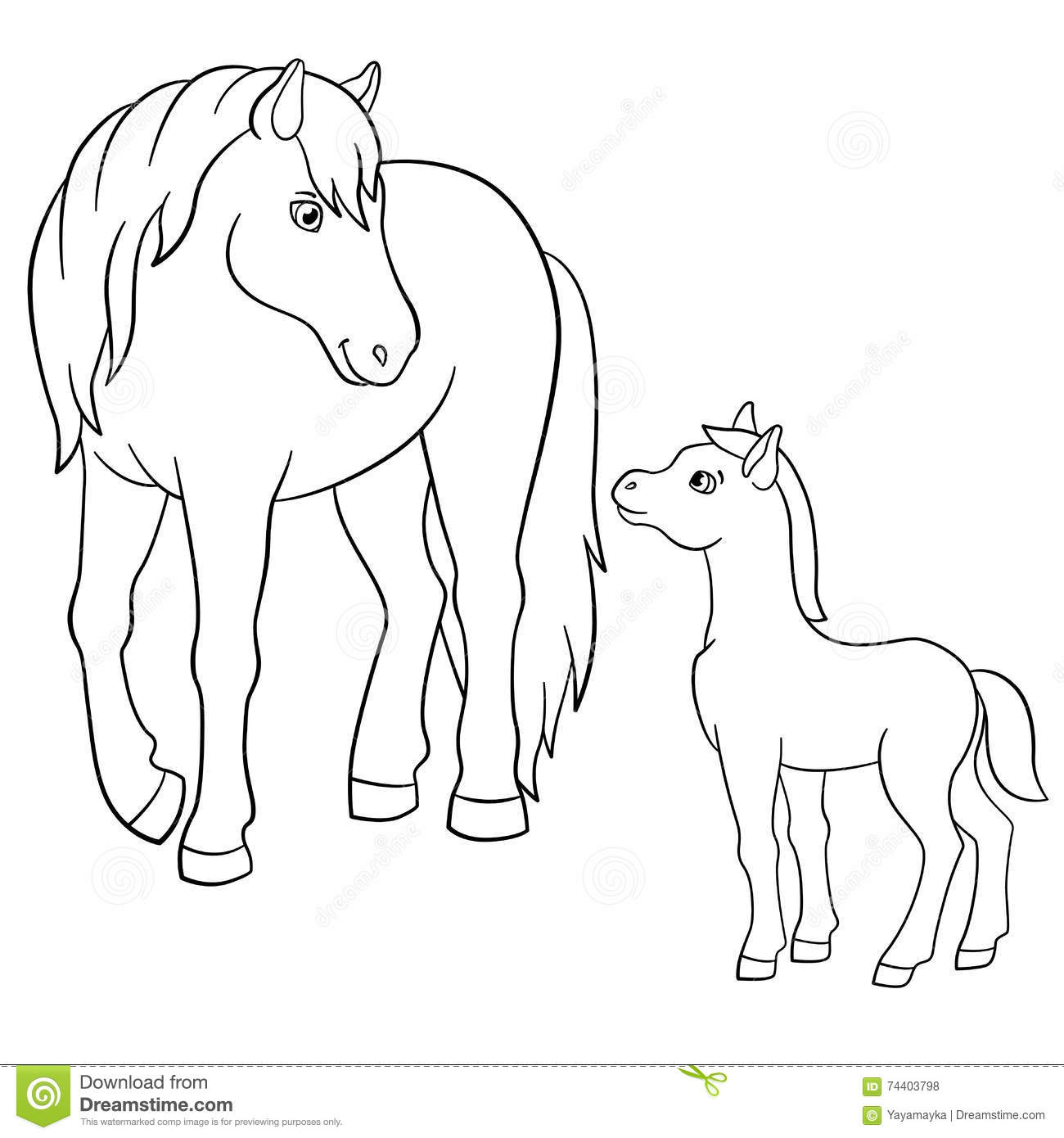 Horse Mother Foal Drawing Stock Illustrations 60 Horse Mother Foal Drawing Stock Illustrations Vectors Clipart Dreamstime