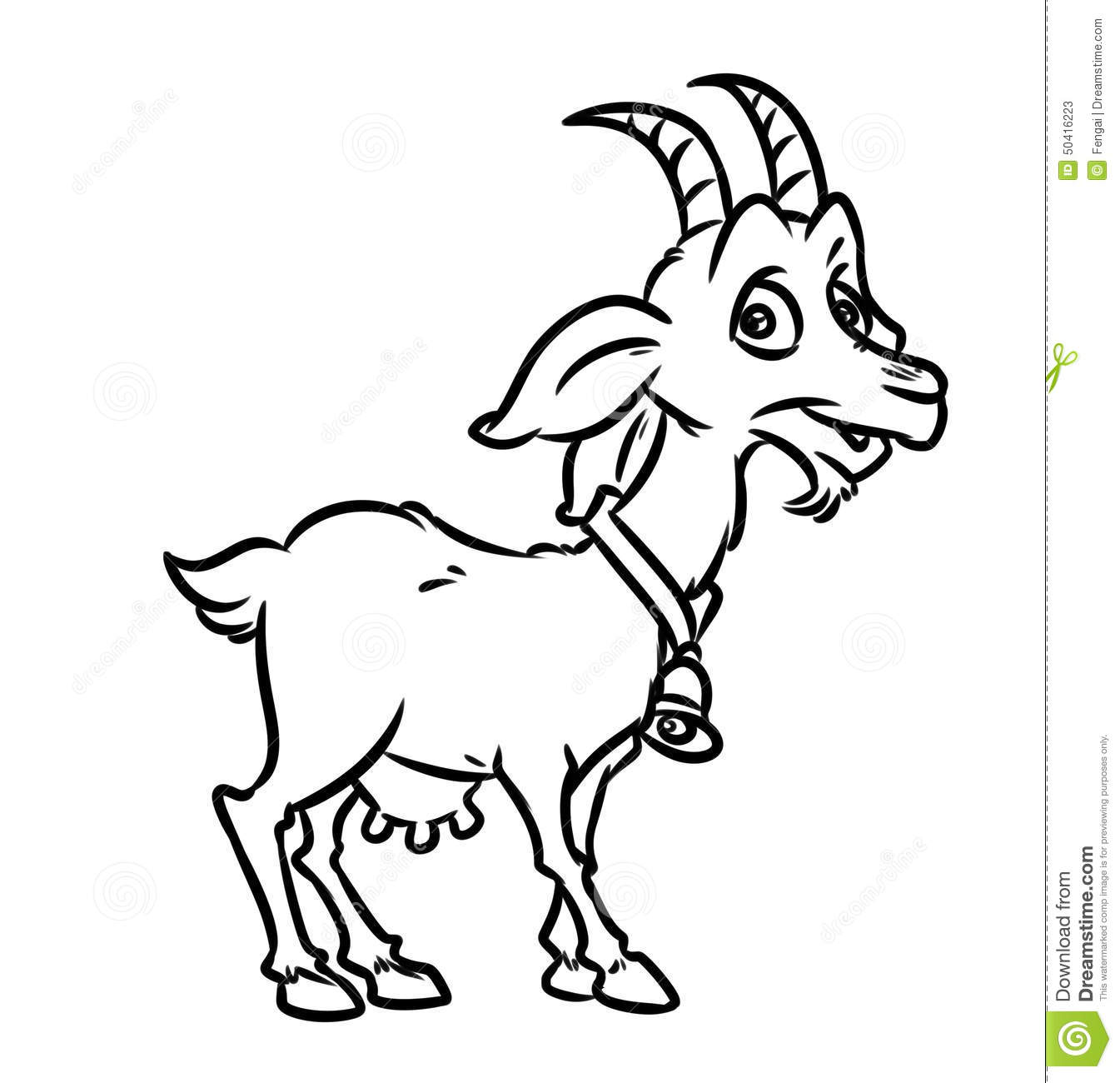 coloring pages goat - Coloring Page Goat
