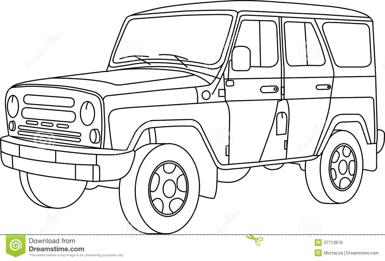 Coloring Pages For Kids Cars Stock Illustration ...