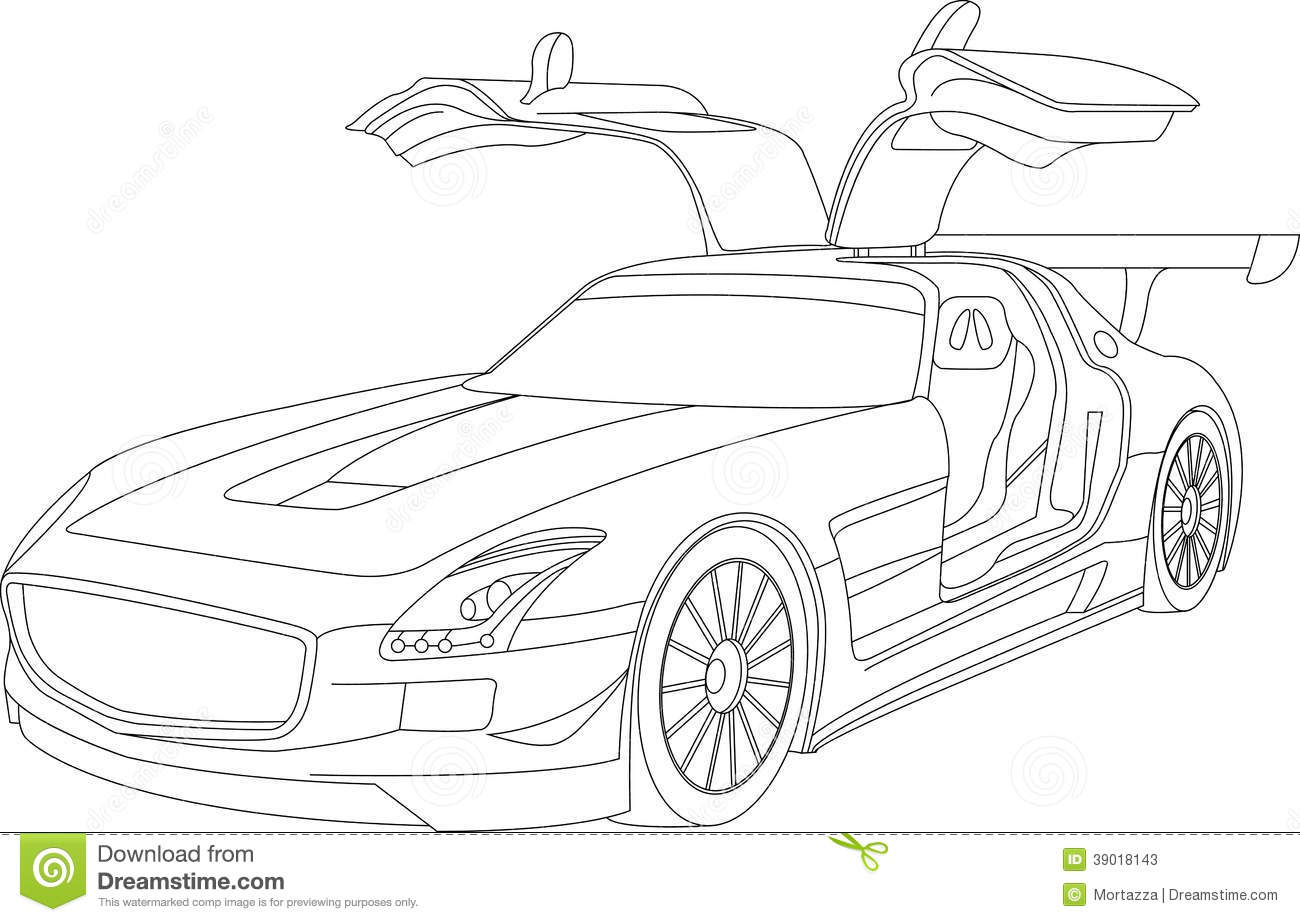 Coloring Pages For Kids Cars Stock Illustration Illustration Of