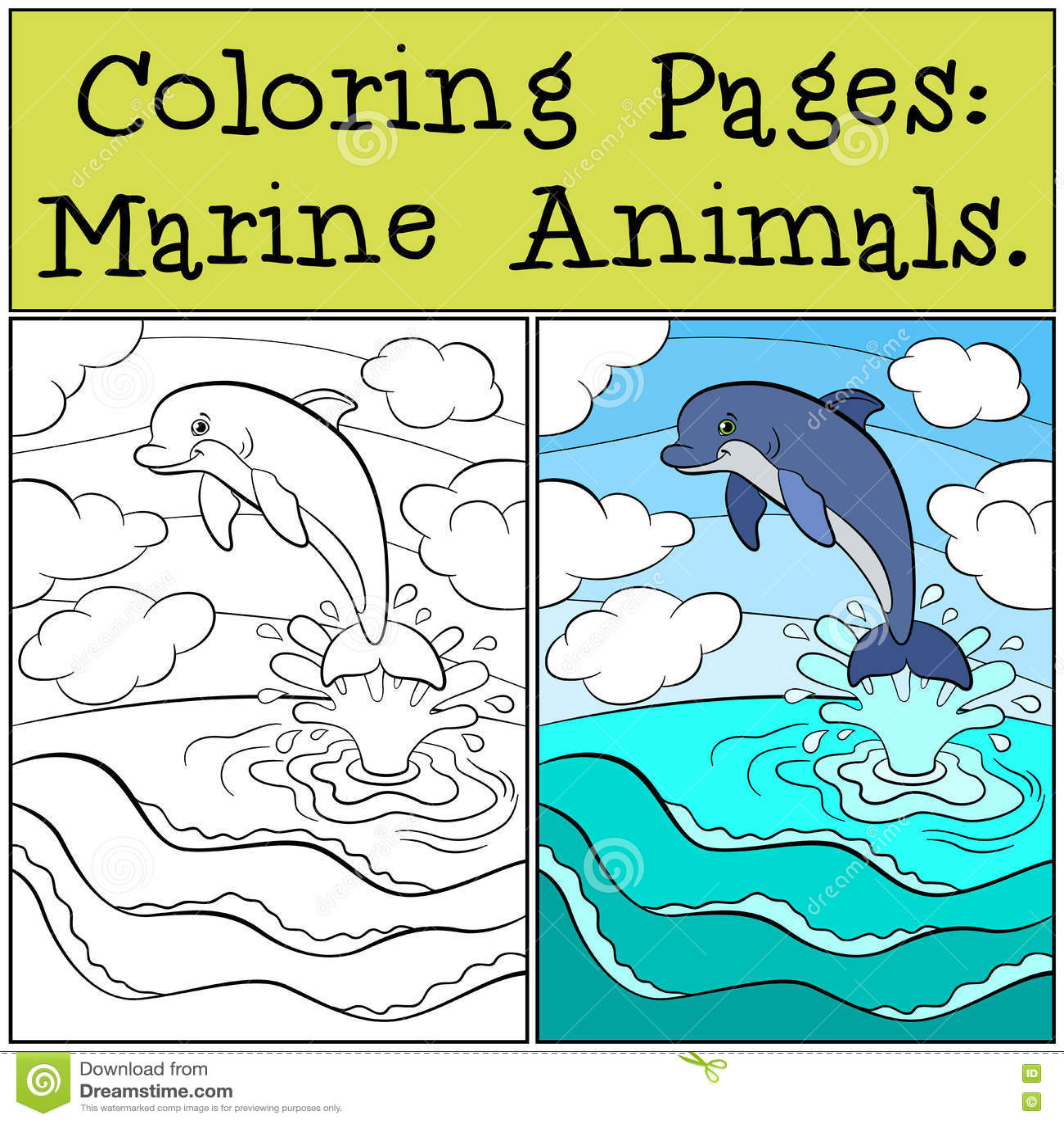 Ocean Coloring Pages - Bestofcoloring.com |Aquatic Animals Coloring Pages