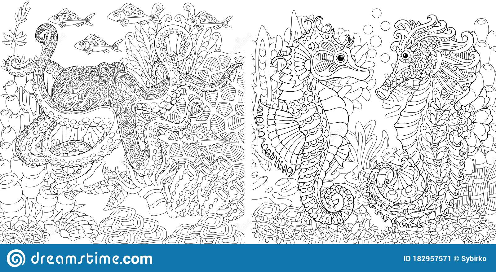 Coloring Pages With Town Landscapes Stock Vector - Illustration of ... | 878x1600