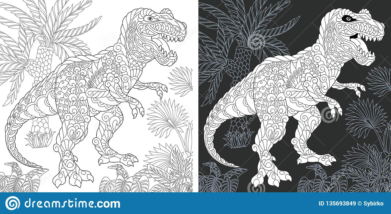 Tyrannosaur Fight coloring page | Free Printable Coloring Pages | 877x1600