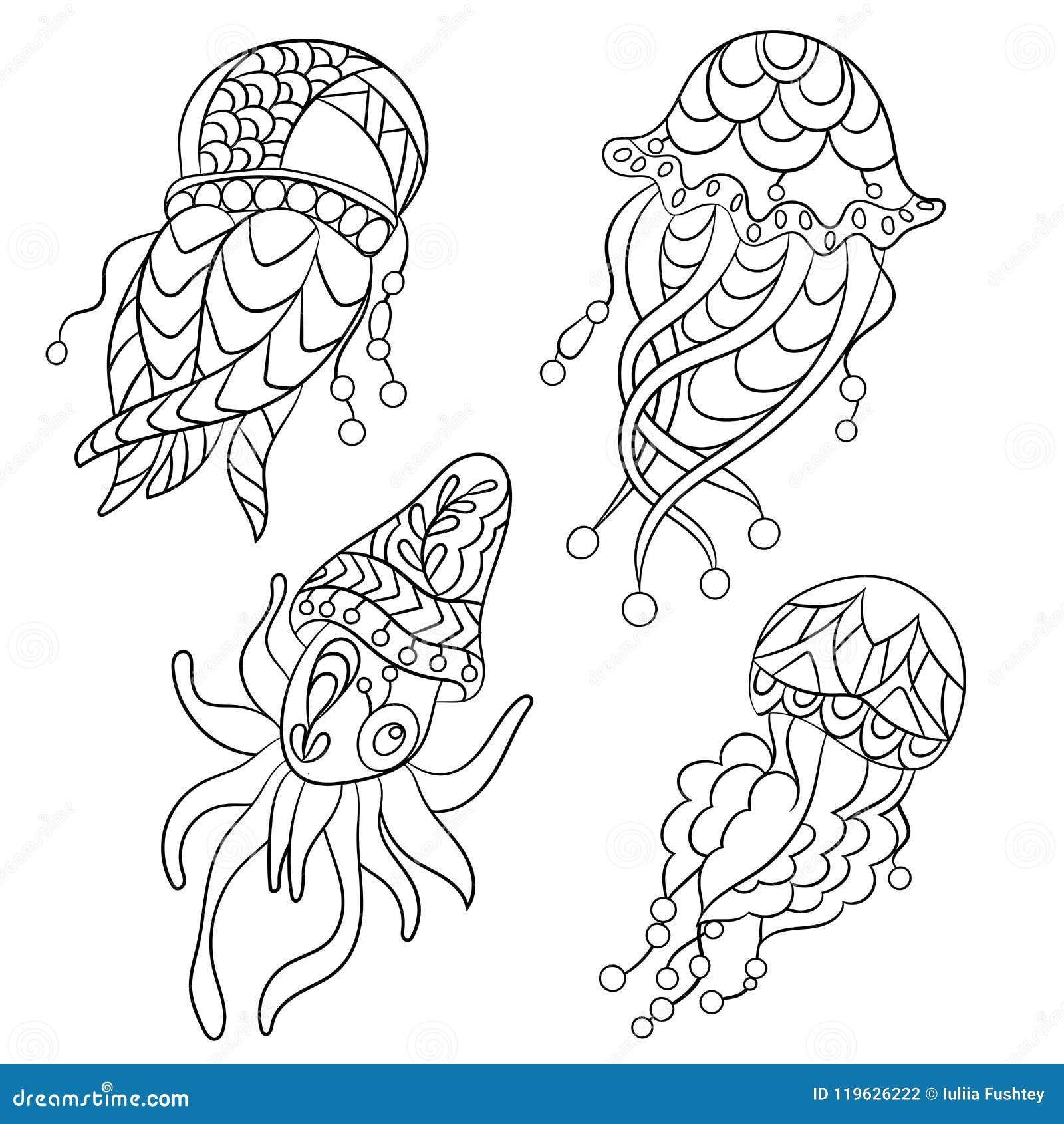 Cnidarian coloring page - Animals Town - Free Cnidarian color sheet | 1390x1300