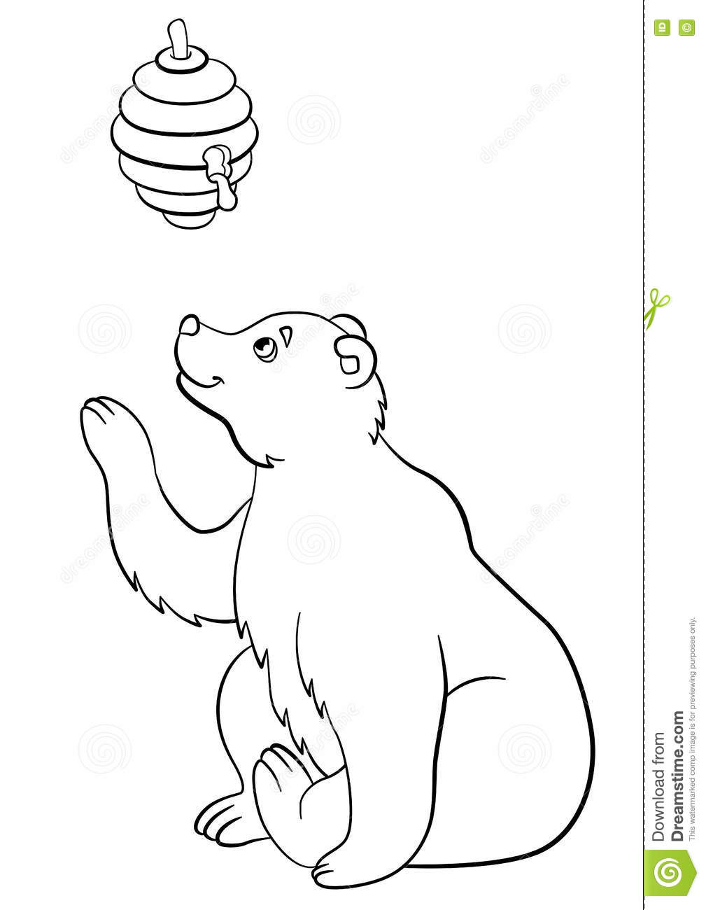 Bear And Beehive Page Coloring Pages