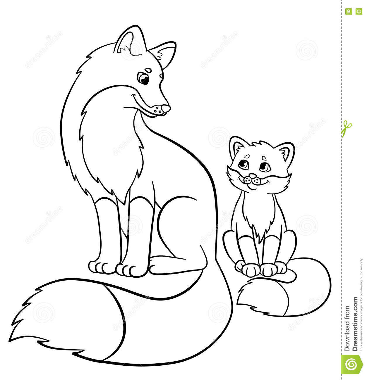 Coloring Pages Animals And Their Babies
