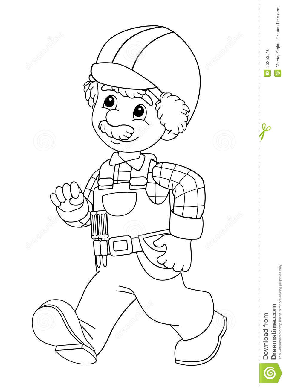 The Coloring Plate - Construction Worker - Illustration For The ...