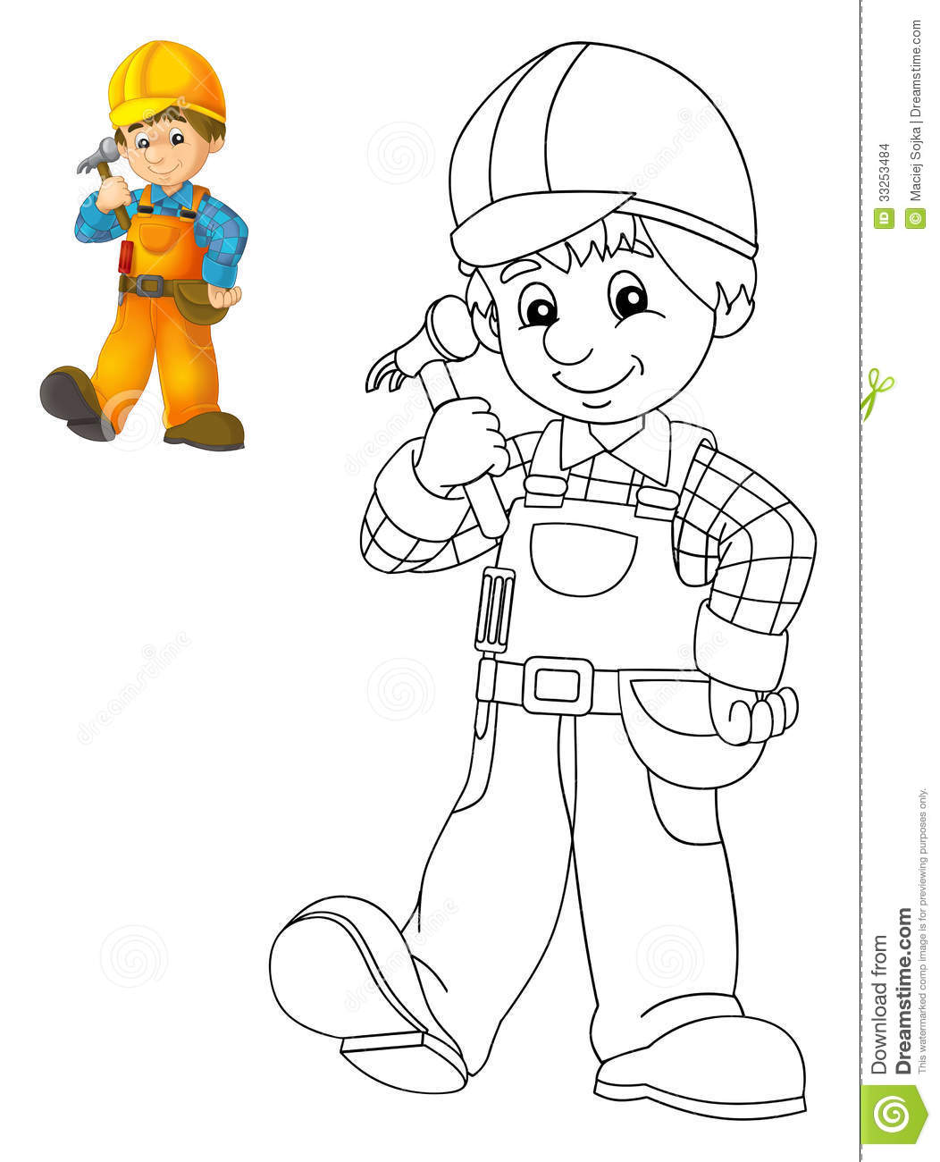 coloring plate construction worker illustration children preview beautiful page 33253484 including construction worker coloring pages 1 on construction worker coloring pages as well as construction worker coloring pages 2 on construction worker coloring pages as well as construction worker coloring page on construction worker coloring pages moreover construction worker coloring pages 4 on construction worker coloring pages