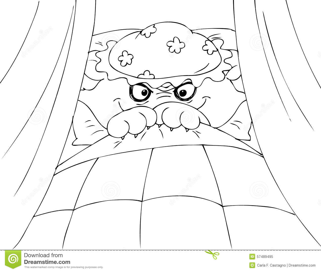 Coloring Red Riding Hood Wolf Stock Vector - Image: 57489495
