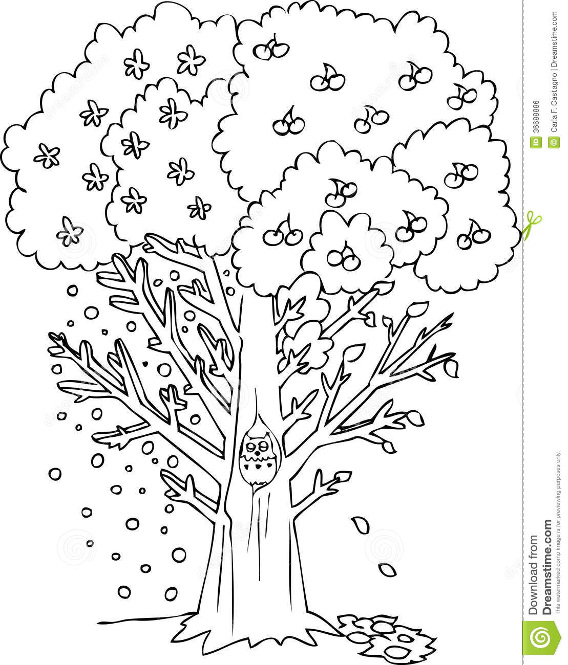 seasonal coloring pages - free coloring pages of four seasons