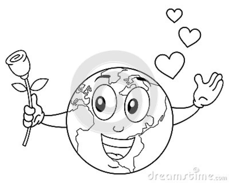 Character Earth Shows Gesture Ok Vector Illustration ...