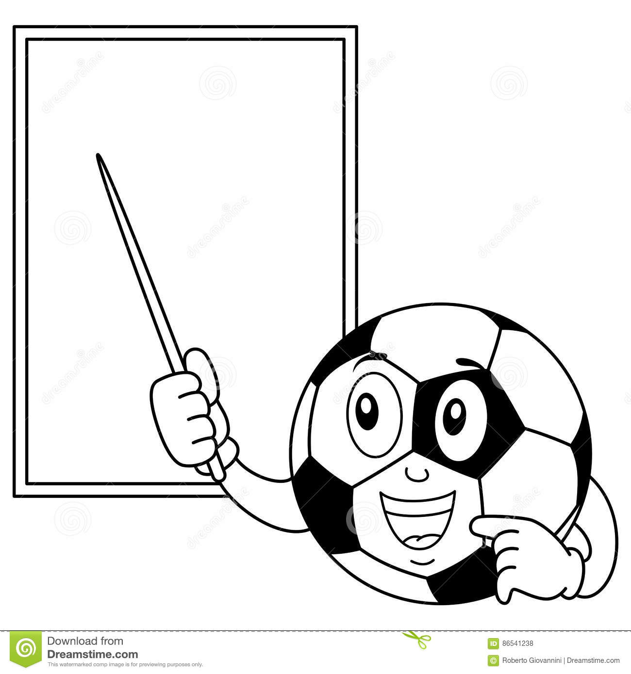 Coloring Soccer Ball And White Board Stock Vector - Illustration of ...