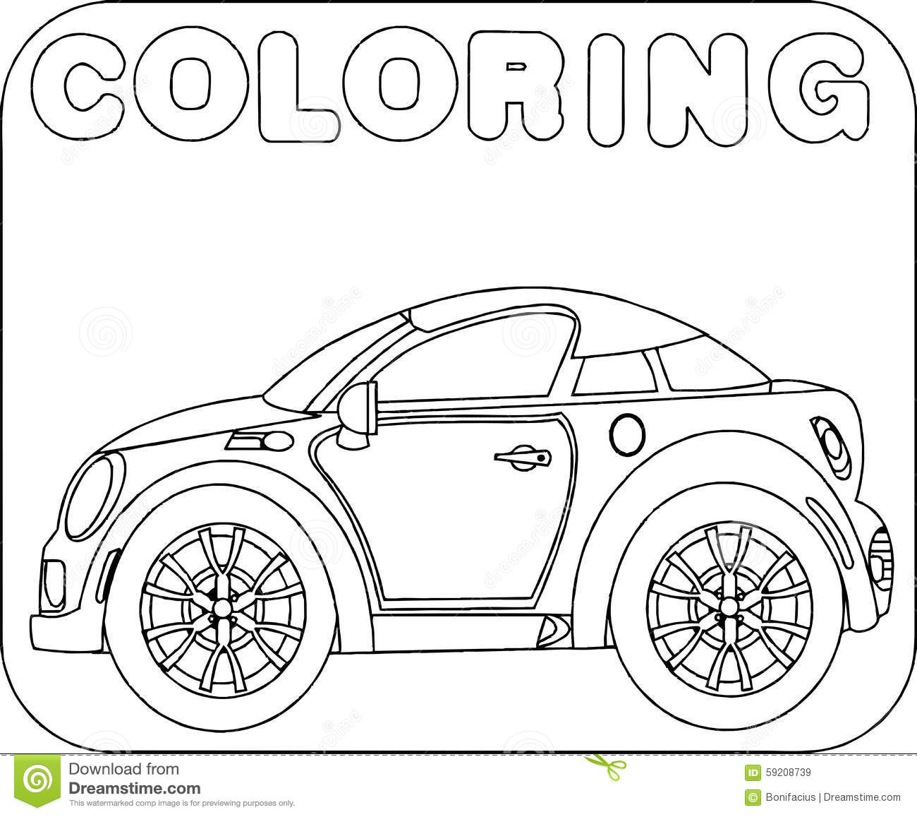Car Themed Coloring Pages : Free classic mini cooper coloring pages