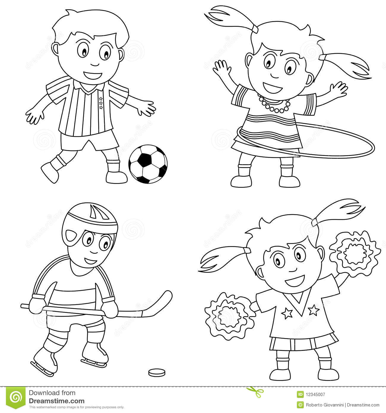 - Coloring Sport For Kids [2] Stock Vector - Illustration Of Drawing