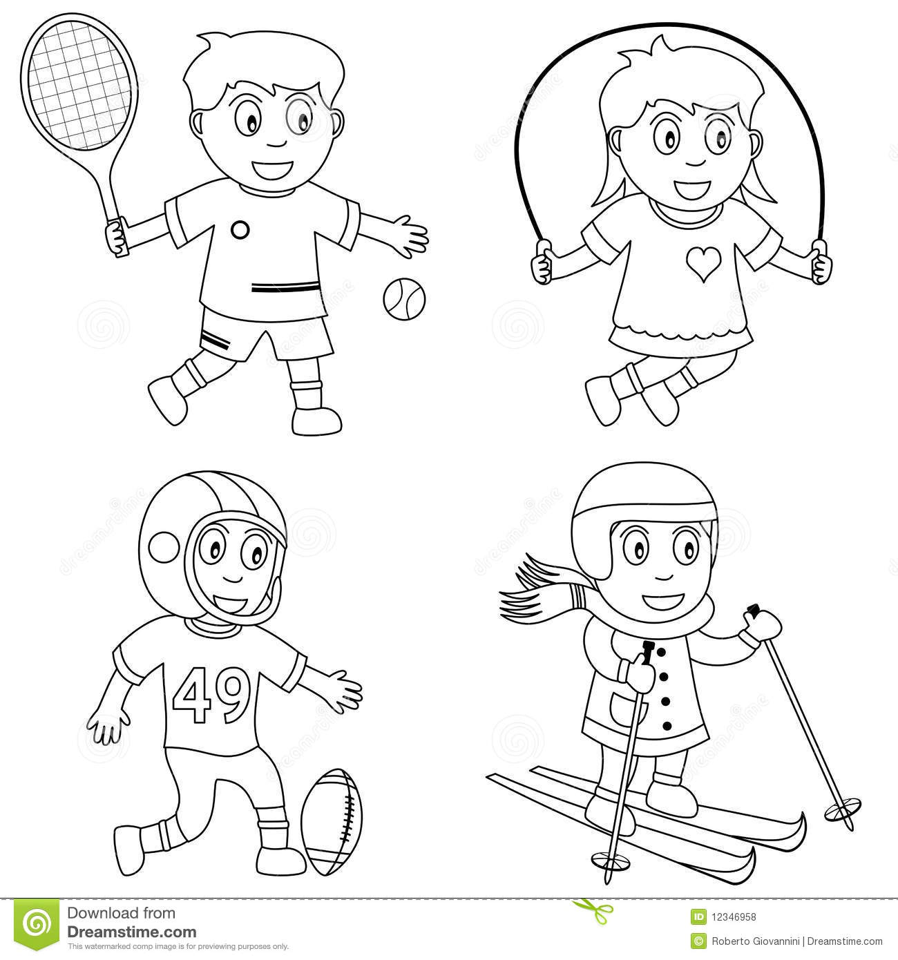 Coloring Sport For Kids [3] Stock Vector - Illustration of ...
