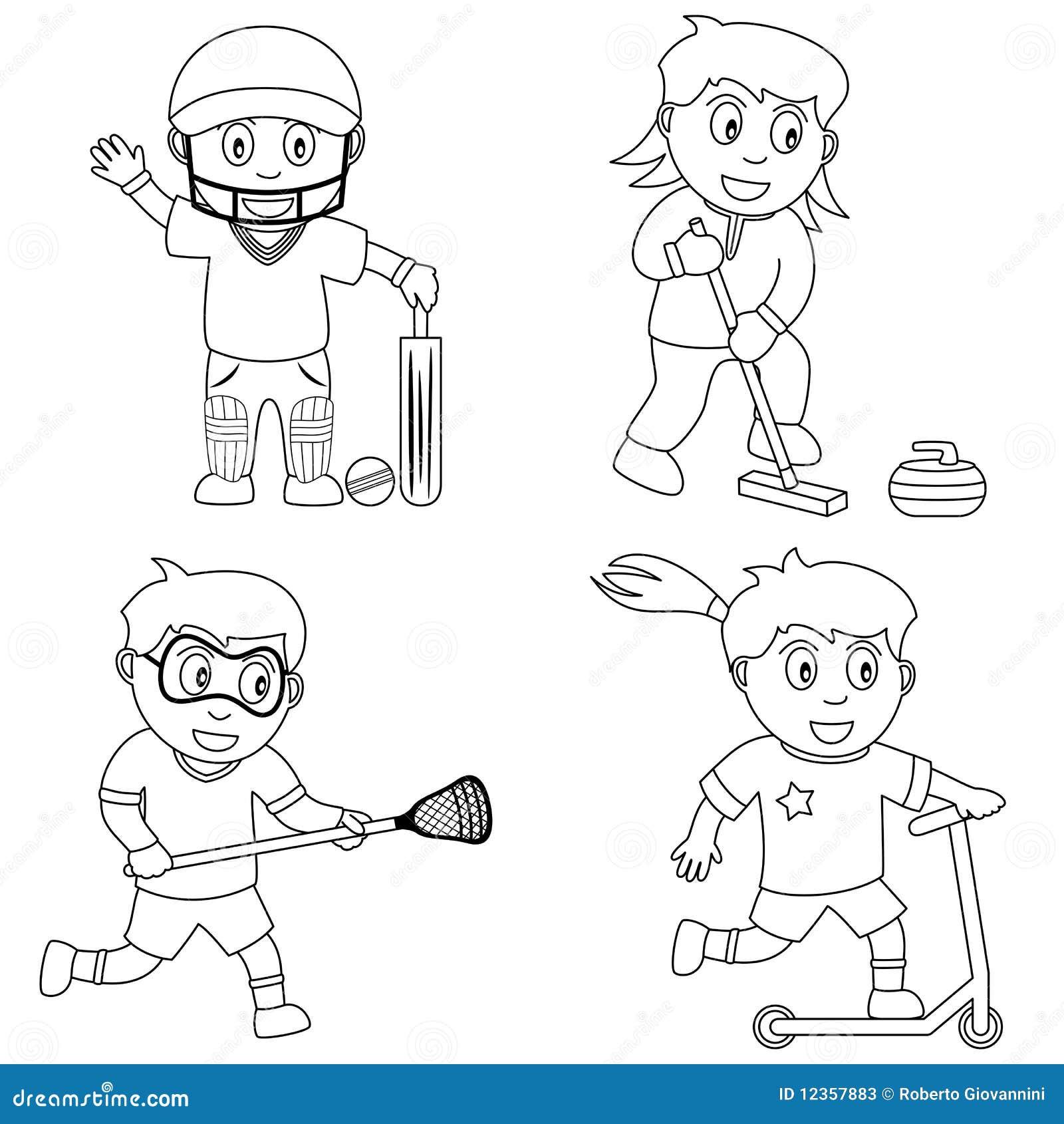 coloring sport for kids 6 stock vector illustration of child drawing 12357883. Black Bedroom Furniture Sets. Home Design Ideas