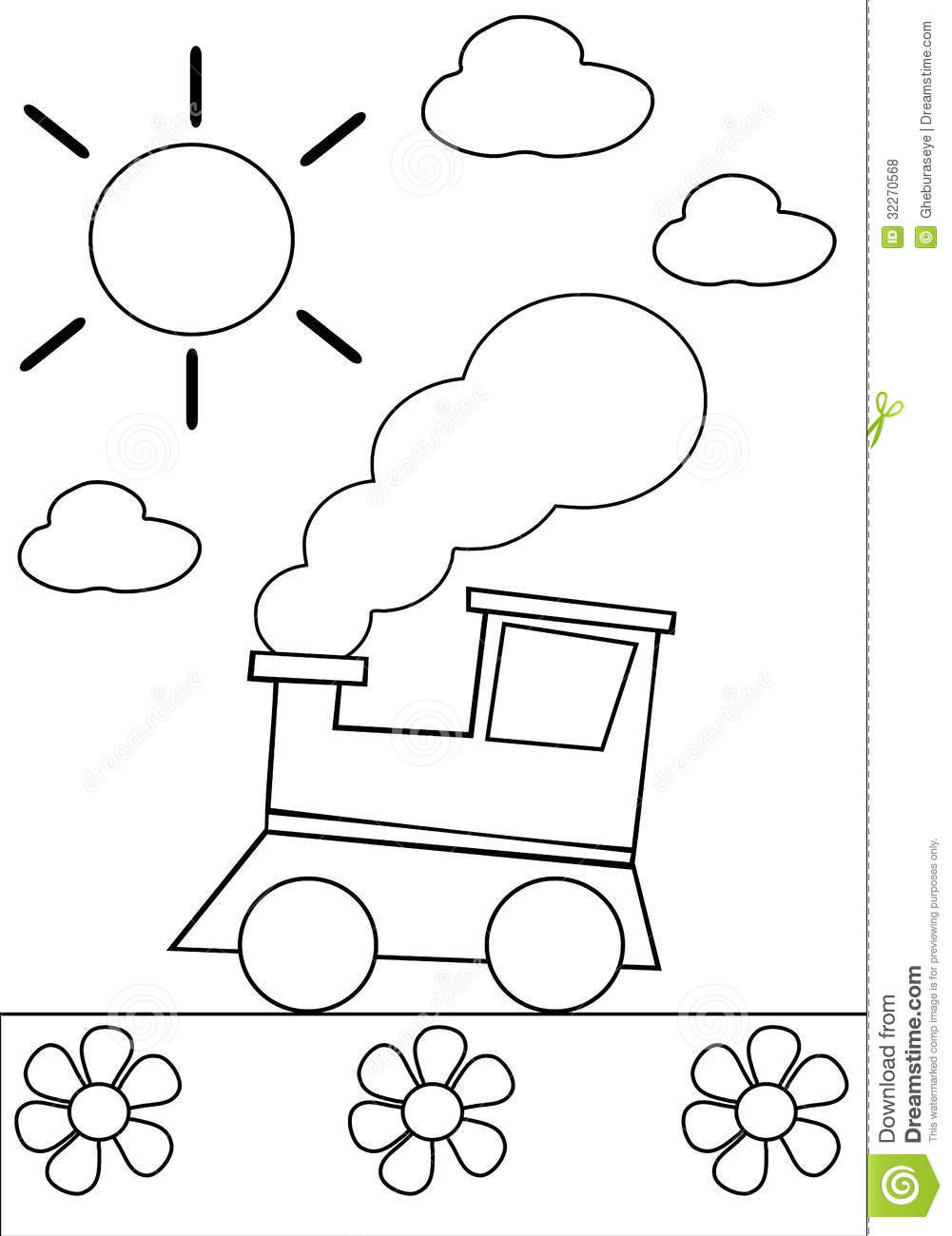Coloring Train Royalty Free Stock Photos