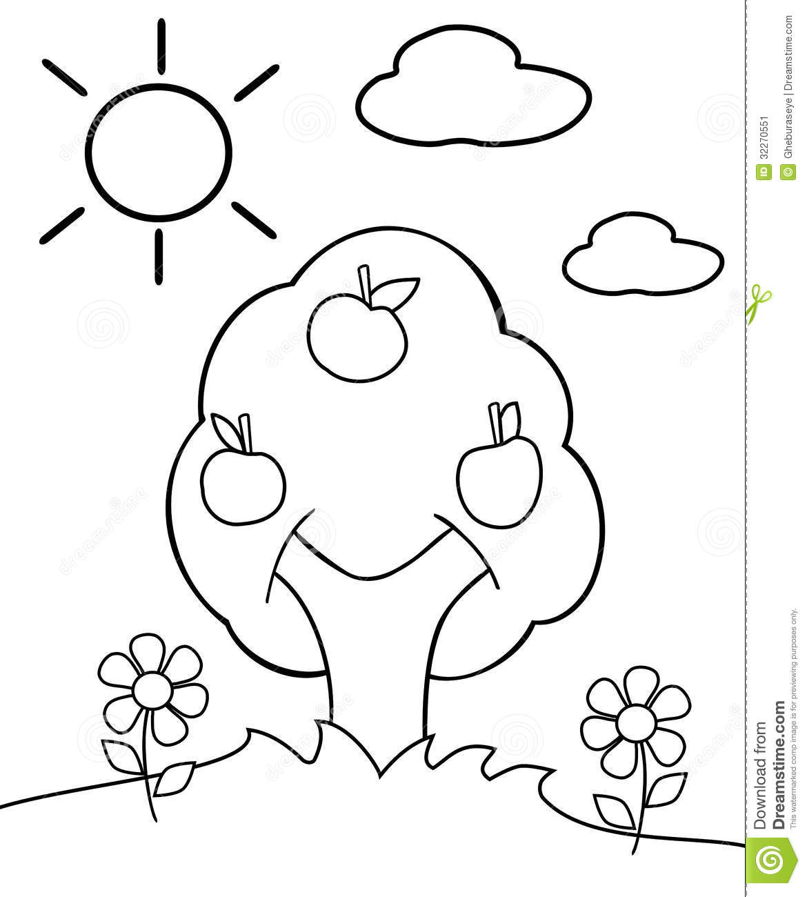 Coloring Tree Stock Image Image Of Graphic Autumn Children S Tree Coloring Pages
