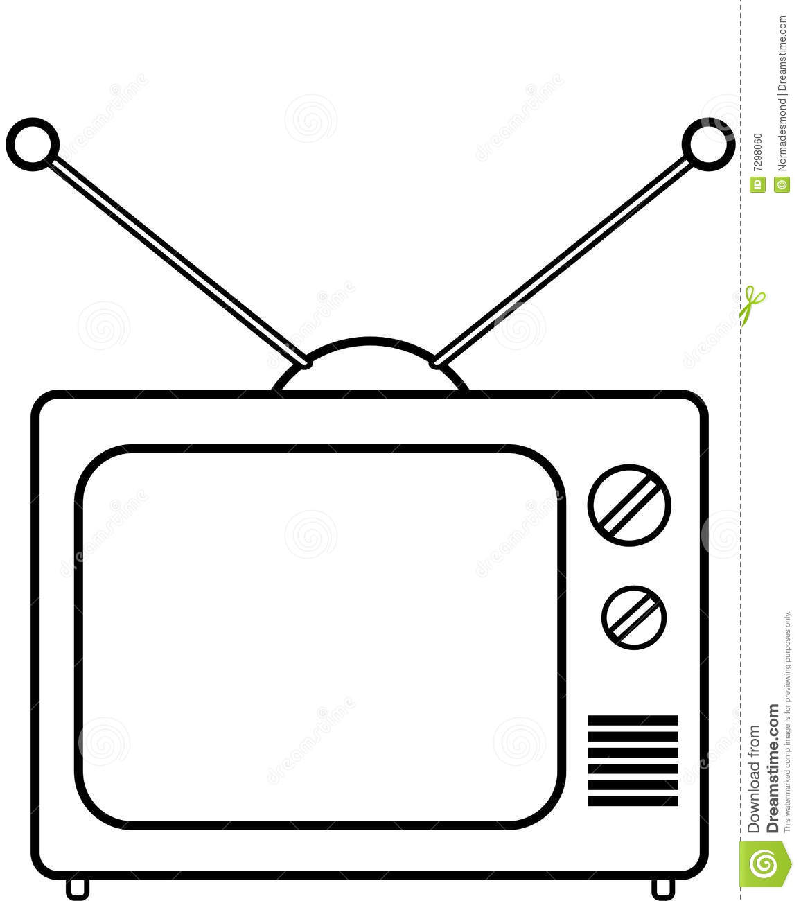 tv clipart Colouring Pages