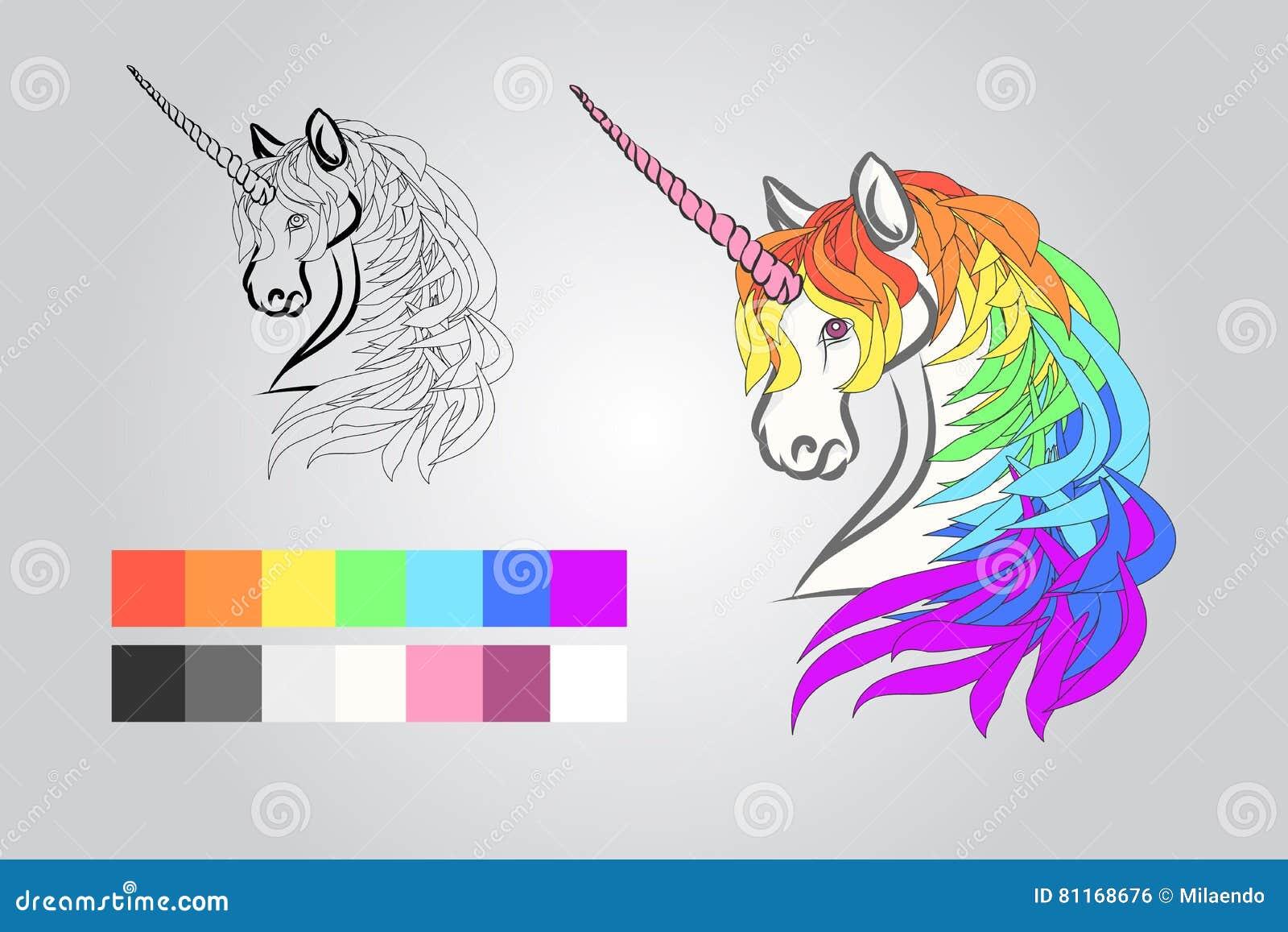 Coloritura per i bambini unicorno illustrazione for Decorazione unicorno