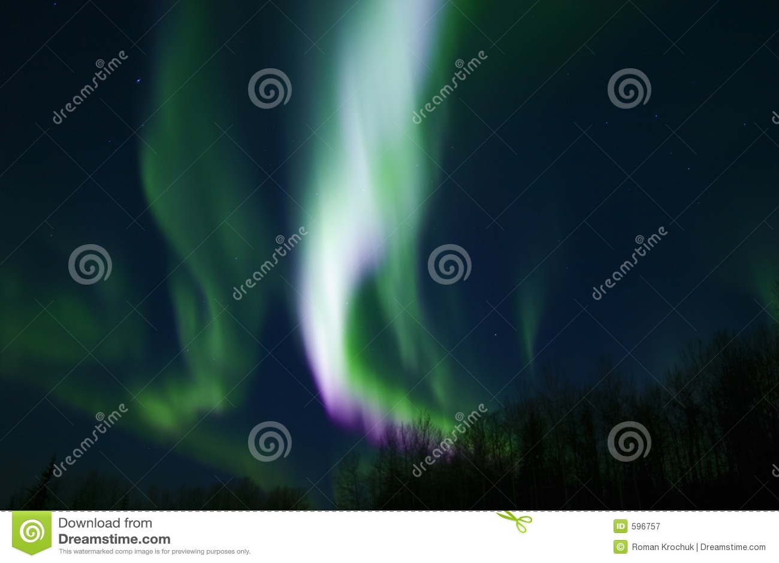 Colors of aurora