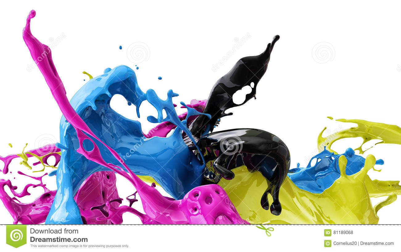 Download Colors cmyk stock photo. Image of open, messyl, painter - 81189068