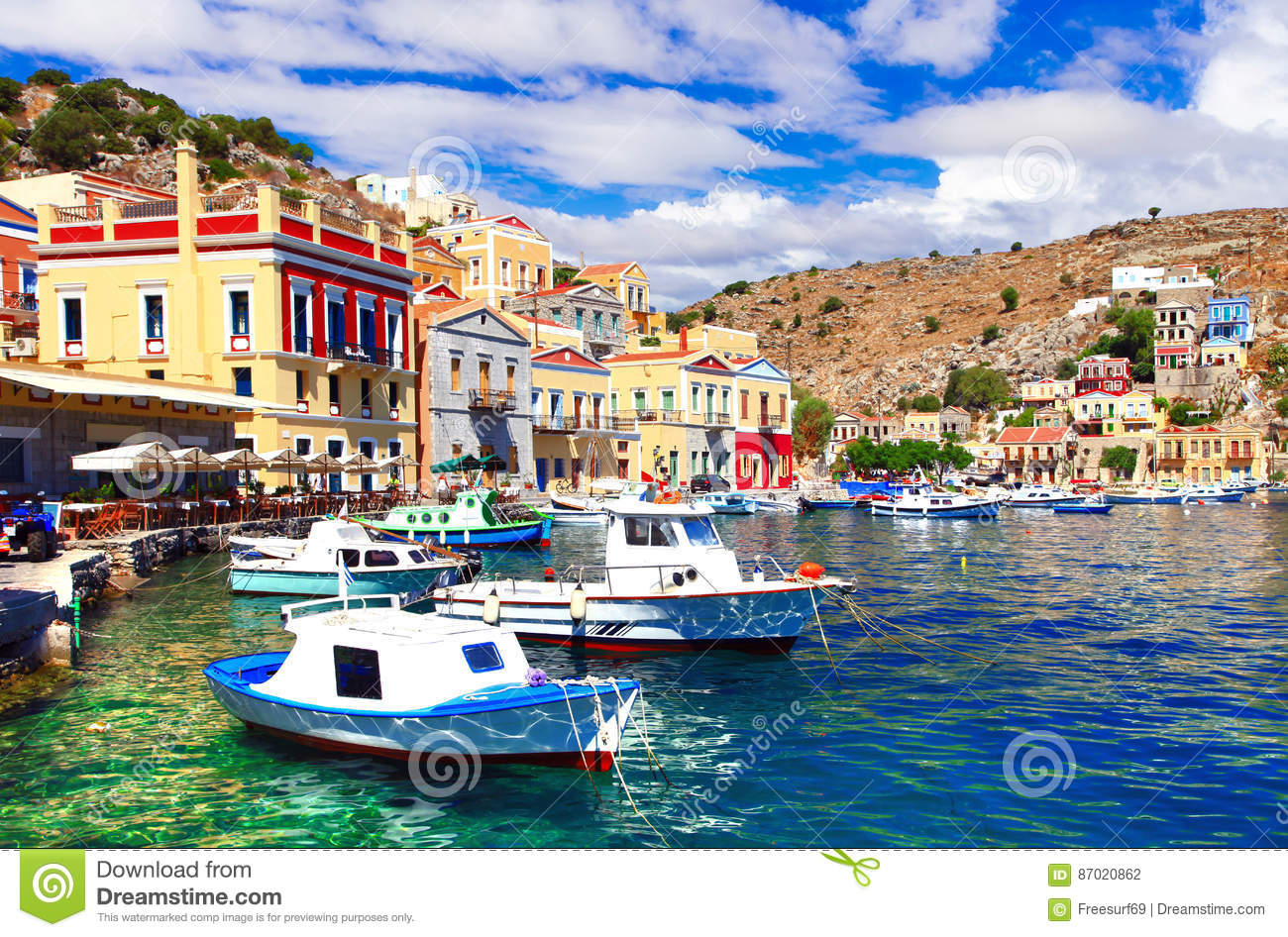 Colors of Greece - beautiful authentic island Symi in Dodecanesse