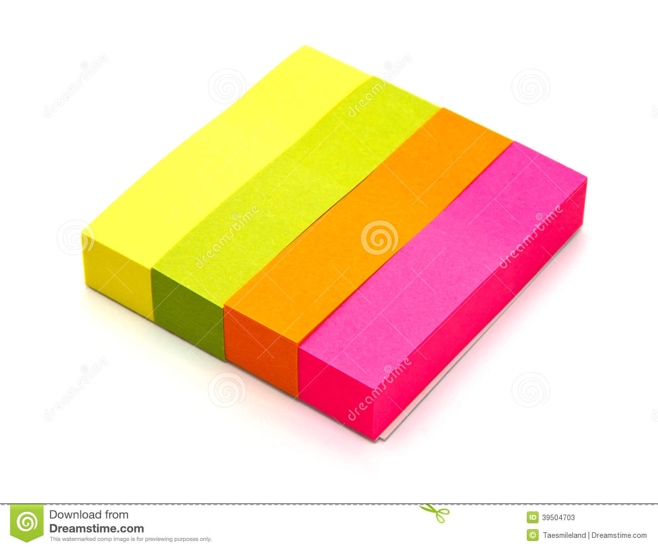 Colors note paper