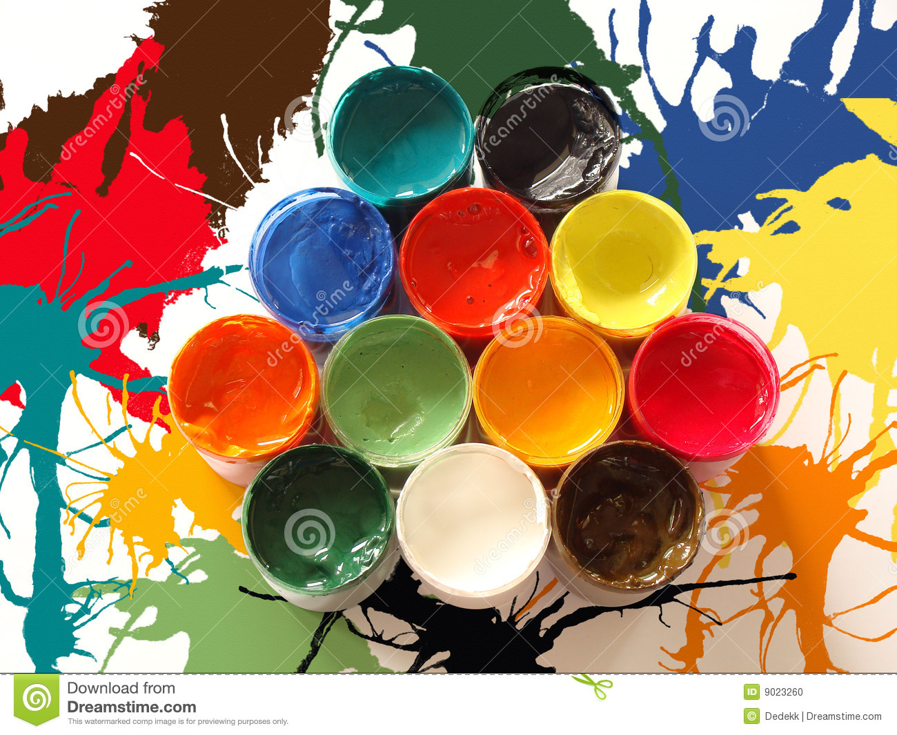colors of paints stock photo - image: 9023260