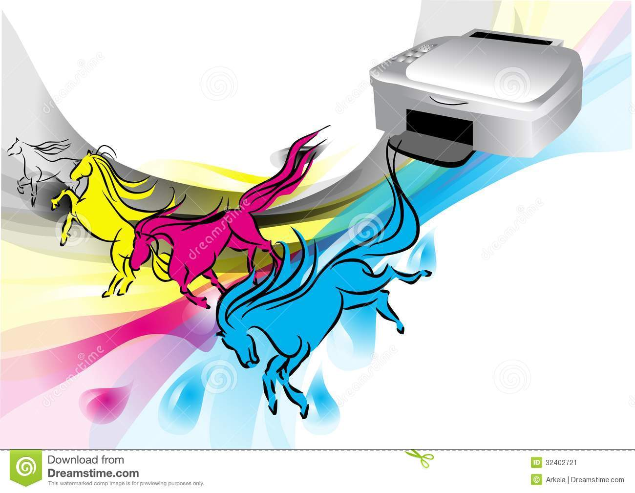 Colors Of Printer Stock Vector Image Of Paint Office