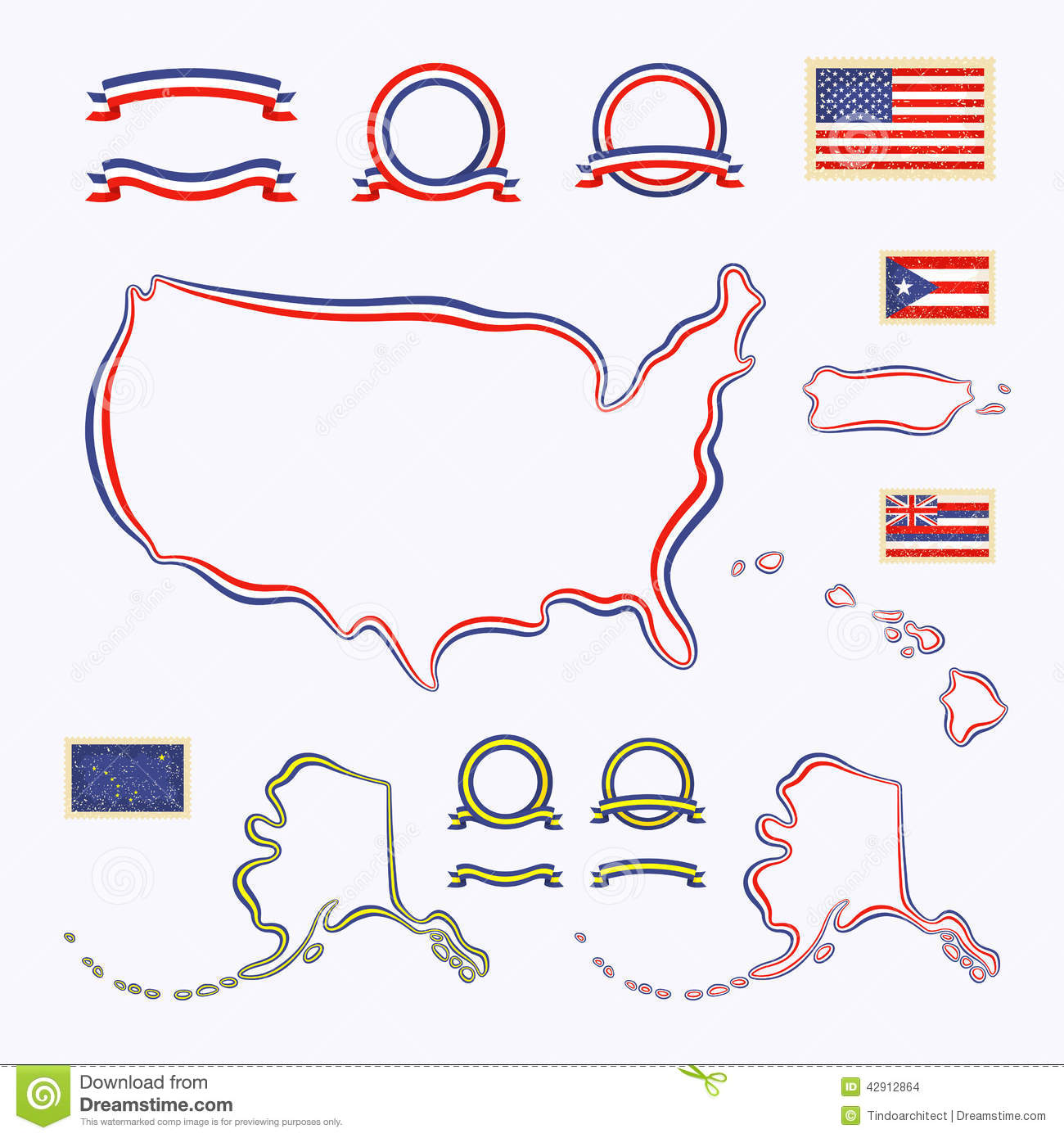 Colors of USA stock vector. Illustration of design, puerto ...
