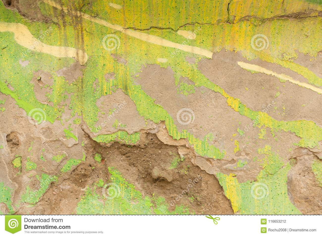 Colors On The Wall / Background Stock Photo - Image of retro, color ...