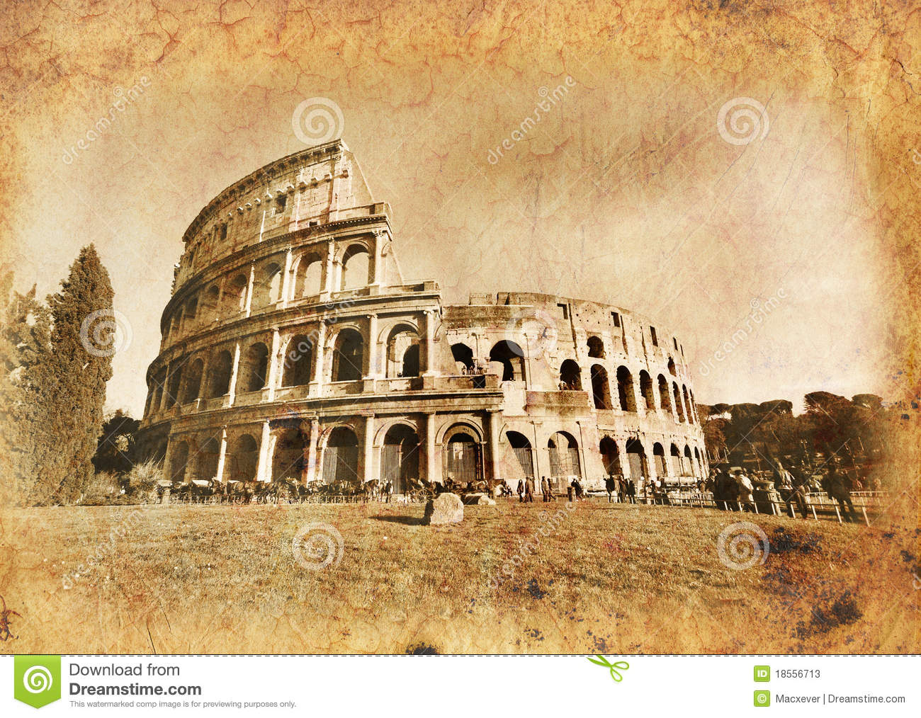 Colosseo In Vintage Old Rome Stock Photos Image 18556713